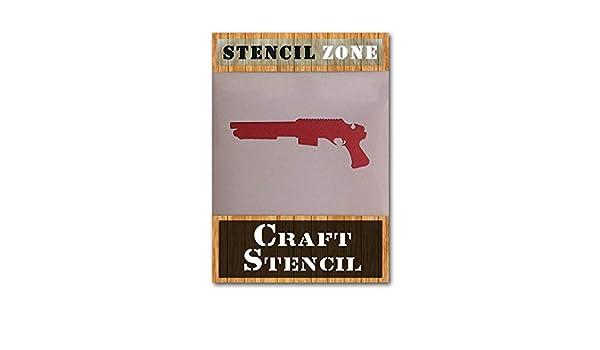 SAWNOFF Xlarge Plantilla para pared con dise/ño de arma de escopeta A1 Stencil