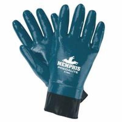 Chemical Resistant Nitrile Gloves, XL, 11''L, Blue, 12 pk.