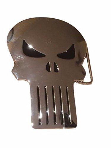 Marvel's The Punisher Cut Out Logo Metal Enamel Belt Buckle (Cut Out Logo Buckle Belt)