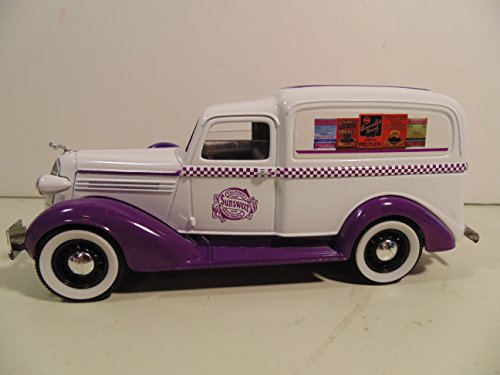 (1936 Dodge Panel Delivery Truck 1/28 Scale Lockable Coin Bank )