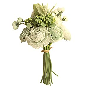 Forthery-Artificial flower Silk Flowers Artificial Rose Bouquet for Home Bridal Wedding Party Festival Decor Gift for Valentine's Day(B) 66