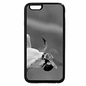 iPhone 6S Case, iPhone 6 Case (Black & White) - Turtle Head Flowers