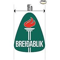 fan products of Breidablik Iceland Soccer Football Club FC 2 Stickers Car Bumper Window Sticker Decal Huge 18 inches