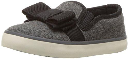 Heather Skate Hanna Shoe Grey on Girls' Slip UNA Andersson Bow 6Aq7AwP8