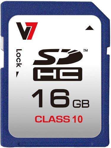 V7 16gb sdhc class 4 flash memory card (vasdh16gcl4r-1n) 2 secure digital high capacity 16gb data storage high speed data transfer: read > 10mb/s, write > 4mb/s durable impact resistant plastic housing