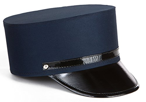 Kangaroos Cotton Navy Blue Adult Train Engineer; Conductor Hat