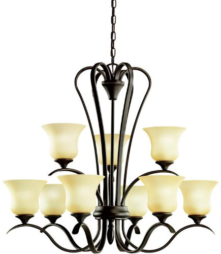 Kichler 2086OZ Wedgeport Chandelier 9-Light, Olde Bronze