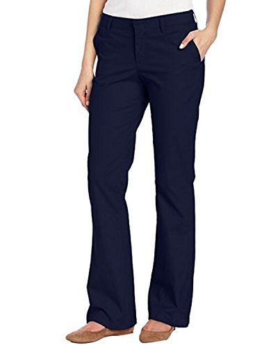 Kidsform Women Stretch Twill Pants Office Wear Slim Fit Pant Classic Comfy Ladies Trousers Navy M Belted Stretch Twill Dress