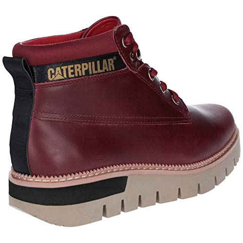 Durable Womens Ankle Laced Pastime Caterpillar Leather Wine Boots dqvEpzX