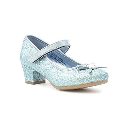 Lilley Sparkle Girls Blue Gem Heeled Shoe - Size 13 UK - Blue