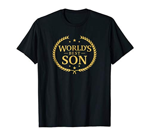 World's Best Son T Shirt - Greatest Ever Award Gift Tee