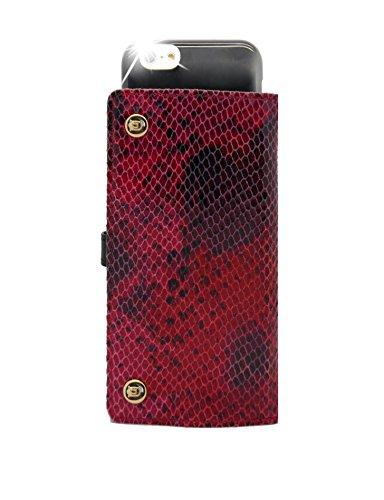 Uunique Luxe Exotic Slider Folio Schlange rot Schutzhülle für iPhone 6/6S Plus