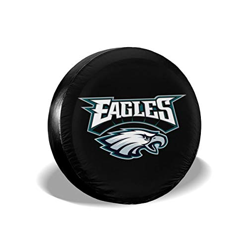 (MamaTina Design Waterproof Tire Cover Philadelphia Eagles American Football Team Unisex Spare Tire Cover for Jeep Trailer RV SUV and Many)