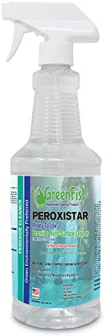 GreenFist Hydrogen Peroxide All Purpose (Glass, Carpet, Toilet,Stain Remover) Cleaner Spray 32 oz. , 1 Quart Sprayer