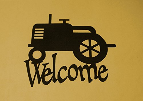 BKcreations1 Tractor Welcome sign, County, Gift, Metal Art, Barn, Farmer, Farm Scene, Welcome, Approximate Size: 12 3/4