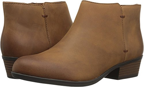 Bootie Ankle Leather (CLARKS Women's Addiy Zora Ankle Bootie,Tan Leather,8.5 M US)