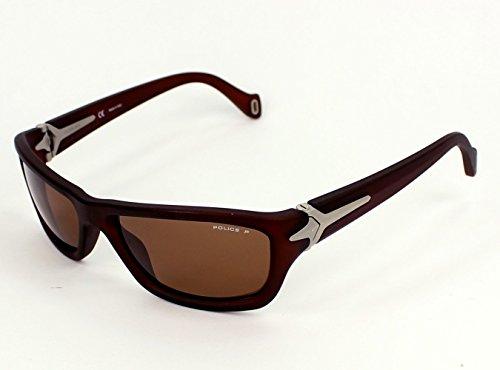 Police sunglasses S1708 NomadZ55P Acetate Brown Brown - For Men Sunglasses Police 2012
