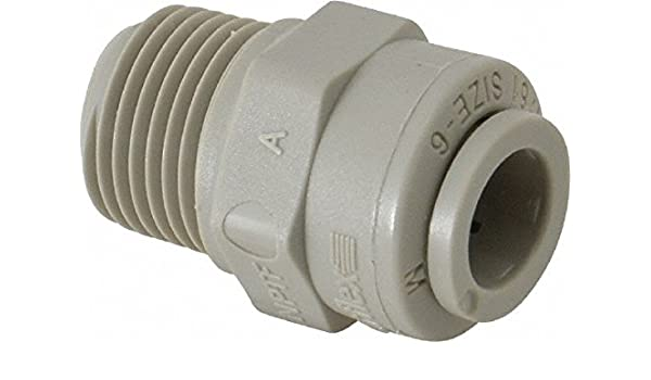 1//4 Push-to-Connect Tube x 1//4 Male NPTF Parker Hannifin A4MC4-MG TrueSeal Acetal Male Connector Fitting with EPDM Seal Gray 1//4 Push-to-Connect Tube x 1//4 Male NPTF Parker Hannifin Corporation