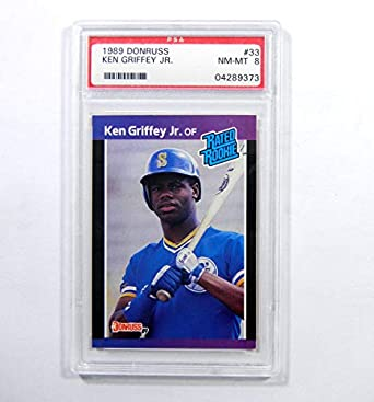 Amazoncom 1989 Donruss Ken Griffey Jr 33 Rookie Mariners