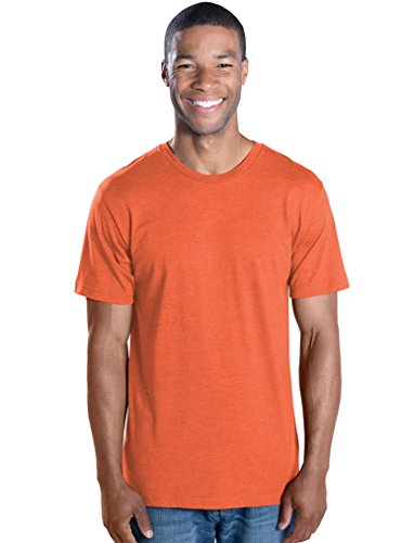LAT Apparel Adult 100% Cotton Vintage Short Sleeve Tee [X Large] Vintage Orange (Lat Ribbed T-shirt)