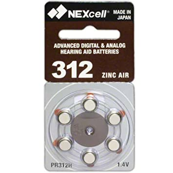 Amazon.com: 60 nexcell pilas para audífonos tamaño: 312 + ...