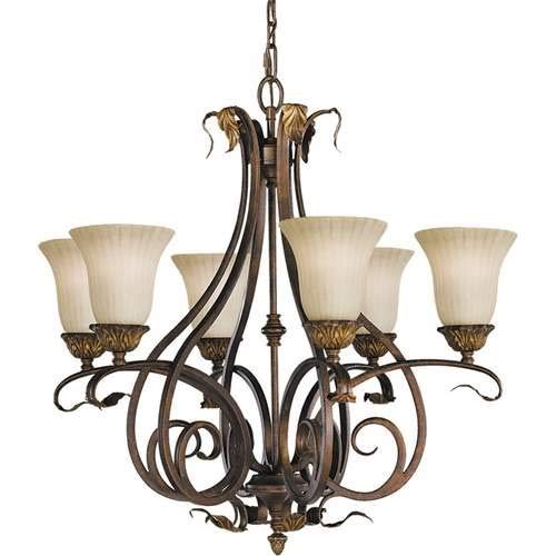 Feiss Sonoma Valley Aged Tortoise Shell 6-Light Chandelier F2076/6ATS ()