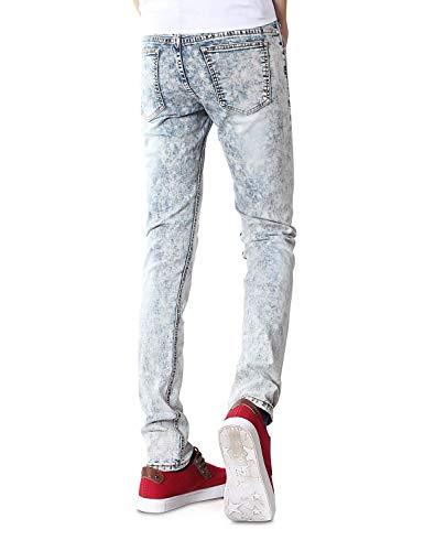 Boys Pantalones Fashion Denim Jeans Casuales Pantalones Jeans Series Vintage Stretch Mens Pants Skinny ADELINA Pantalones Largos Blanco Ropa Bdq6Pd