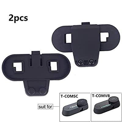 FreedConn Intercom Helmet Clip Accessory for T-COMVB and T-COMSC Motorcycle Helmet Bluetooth Interphone intercom Remote Headset Bracket Clip Mount for Helmet Headset: Automotive