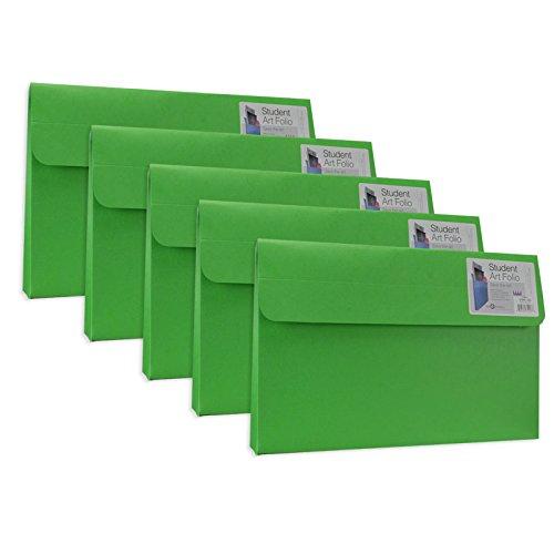 Star Products Student Art Folio Medium Evergreen 5 Pack