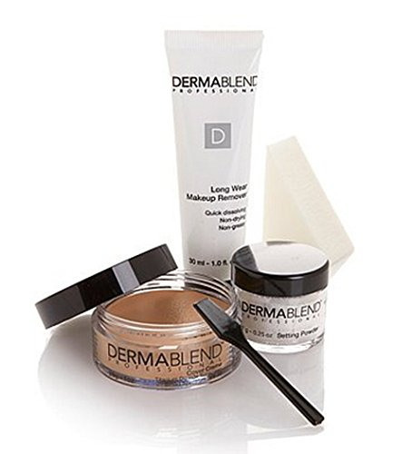 Dermablend Professional Cover Cream Foundation SPF 30 Creme 4 Piece Kit ~ Sand Beige (Dermablend Creme Kit)