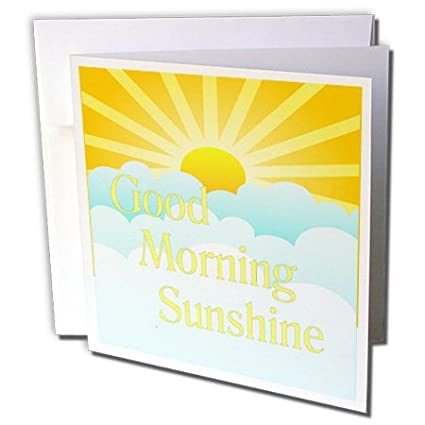 Amazon 3drose image of good morning sunshine cartoon sun and 3drose image of good morning sunshine cartoon sun and clouds greeting card gc2362485 m4hsunfo
