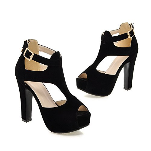 Noir 5 AdeeSu 36 Femme Noir Ouvert SLC04109 Bout q7x18Bp