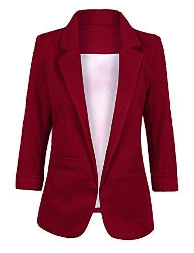 Women's Casual Blazer Korea Style Jacket Folding Sleeve Office Suit