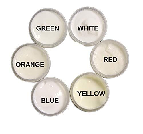 SIX Color UV Reactive Invisible Acrylic Paint Set- 1/2oz pots ()