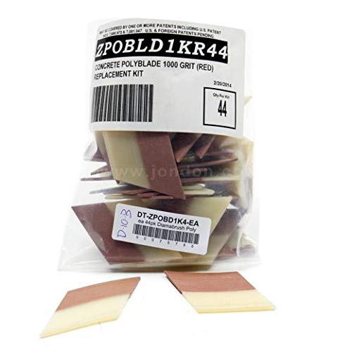 Diamabrush Replacement Polymer Blades, 1000 Grit (44 Pack/case)