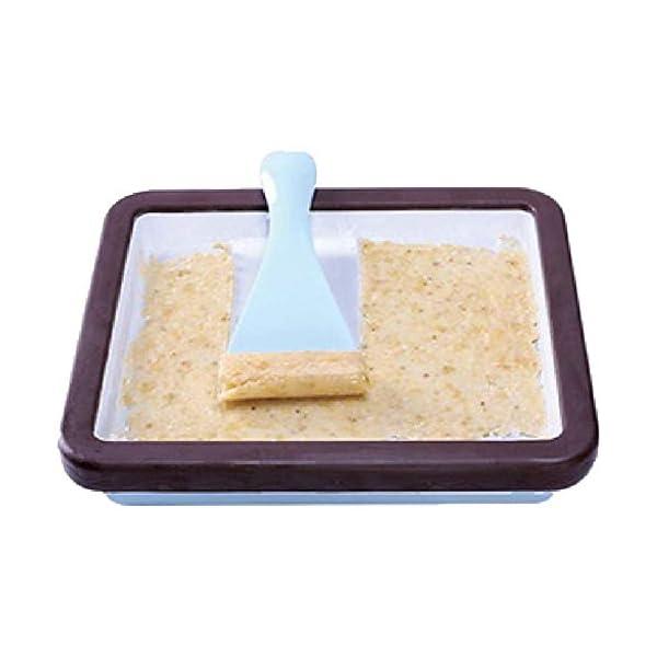 YYSDH Ice Cream Maker Laminati 2.020 Macchine Quadrati di Ghiaccio con Due spatole per Healthy Homemade Ice Cream… 4 spesavip