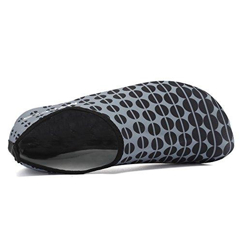 Scarpe Da Donna Acqua Equick Quick-dry Sport Respiratore Pelle Scarpe A Piedi Nudi Antiscivolo Calzini Multifunzione Yoga Esercizio A.grey