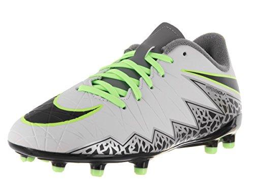Nike Jr Hypervenom Phelon Ii Fg, Botas de Fútbol Niños Plateado (Pure Platinum / Black-Ghost Green)