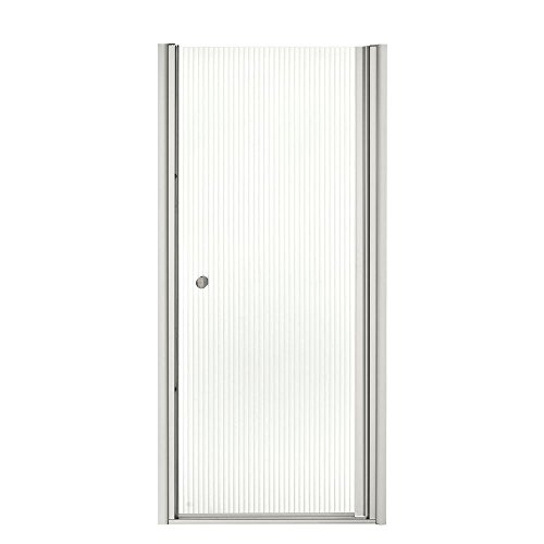 KOHLER K-702402-L-MX Fluence Frameless Pivot Shower Door, Matte Nickel