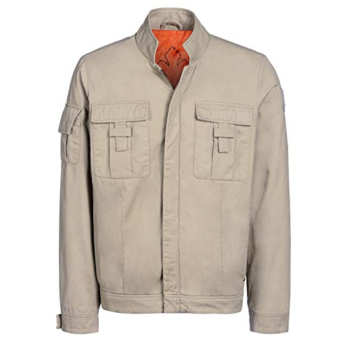 Star Wars Replica Costumes (Musterbrand Star Wars Men Jacket Skywalker Beige)
