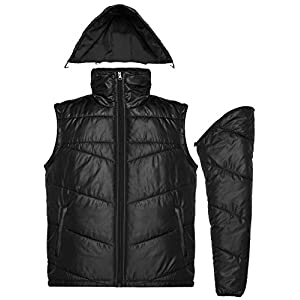 COOFANDY Mens Winter Packable Puffer Coat Down Jacket with Removable Sleeves