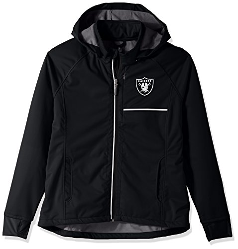 GIII For Her NFL Oakland Raiders Adult Women Cut Back Soft Shell Jacket, Small, (Oakland Raiders Womens Jackets)