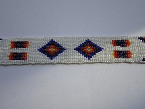 GLASS BEADED STRIPS 3 SIZES BEADWORK TRIBAL NATIVE CRAFTS POW WOW REGALIA S4 (10 x 1 1/4)