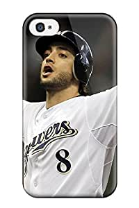 3382458K97635069 New Diy Design Braun Baseball For Iphone 4/4s Cases Comfortable For Lovers And Friends For Christmas Gifts