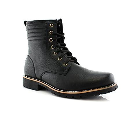 Polar Fox BRIAN MPX508568 Lace Up Combat Boot BLACK 7.5 - Footwear Combat Boots