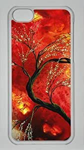 diy phone caseAbstract Art Floral Tree Painting Fresh Blossoms DIY Hard Shell Transparent iphone 5/5s Case Perfect By Custom Servicediy phone case