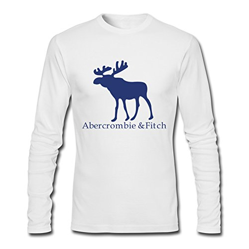 The Abercrombie   Fitch Logo For Men Printed Long Sleeve Cotton T Shirt