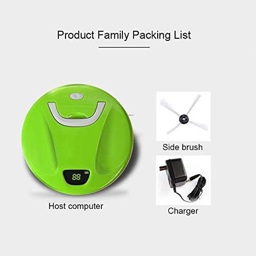 Aspirateur robotique Aspiration auto-rechargeable intelligente maison vide, intelligent Aspirateur Écran tactile Ménage Balayer Nettoyage Robot (Color : Blue) Green