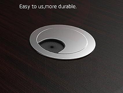 Tapon pasacables para mueble de sala, escritorio plástico blanco 60mm: Amazon.es: Bricolaje y herramientas