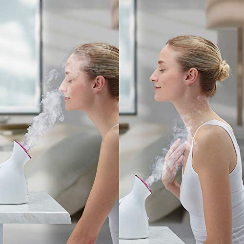 Panasonic Spa-Quality Facial Steamer EH-SA31VP with Ultra-Fine Nano Ionic Steam to Moisturize and Promote Deep Pore Cleansing, Compact Design and One-Touch Operation, 6-Minute Steam Cycle